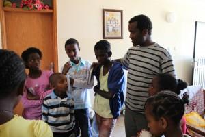 Tomaso mit Kids